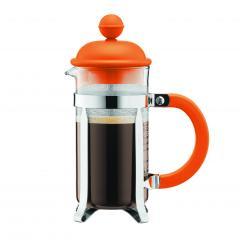 【日本正規品】CAFFEETTIERA フレンチプレスコーヒーメーカー オレンジ 0.35l