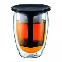 【日本正規品】TEA FOR ONE ティーフィルター付きダブルウォールグラス 0.35l