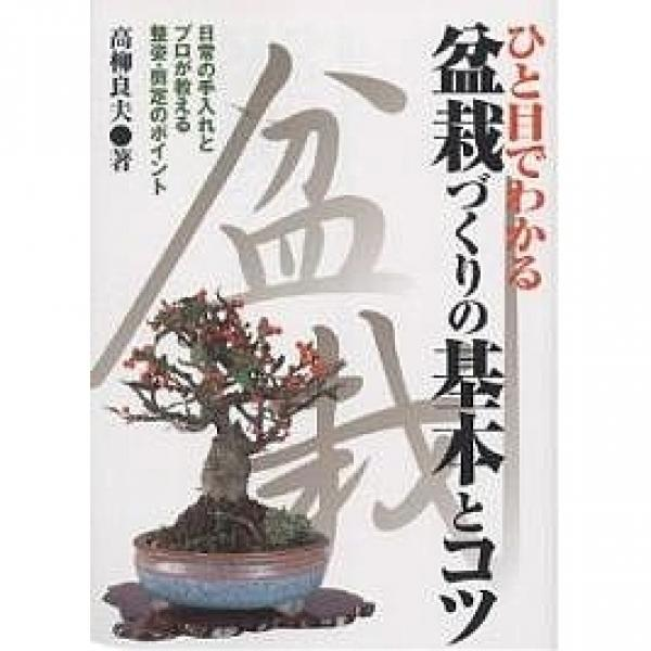 ひと目でわかる盆栽づくりの基本とコツ 日常の手入れとプロが教える整姿・剪定のポイント/高柳良夫