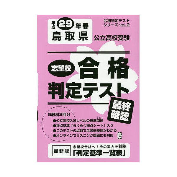 鳥取県公立高校受験 最終確認 29年春受験用