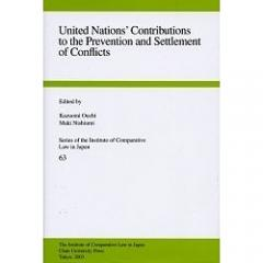 United Nations' contributions to the prevention and settlement of conflicts
