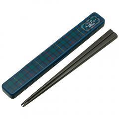 ABC4 音の鳴らない箸・箸箱セット 箸19.5cm <トラディションマインド> スケーター