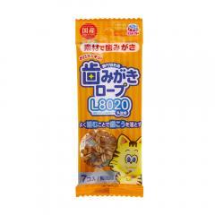 食べられる歯みがきロープ 愛猫用 鯛風味 7個入り 猫 猫用歯磨き 歯みがき 10袋入り