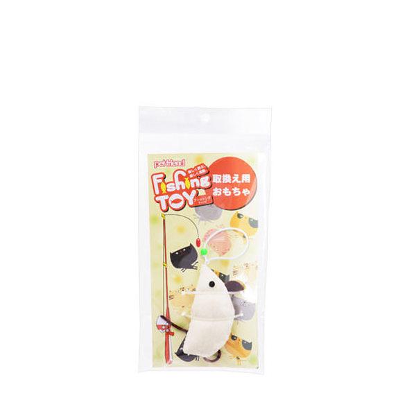 猫 おもちゃ ペットフレンド フィッシングトーイ マウス キャンバス 取り替え用 猫釣竿 猫じゃらし