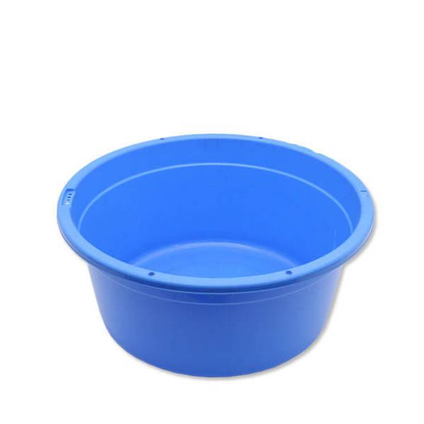 簡易梱包 E-CON 丸型タライ 100型 青 水抜栓付(外径75.5×深さ34cm 約101L)お一人様1点限り 同梱不可