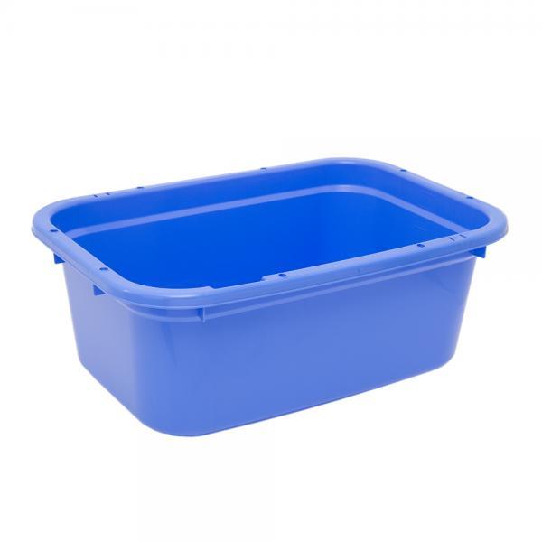 同梱不可・中型便手数料 簡易梱包 E-CON 角型タライ 80型 青 水抜栓付(幅75.5×奥行き53.5×深さ29cm 約75.4L) 才数170