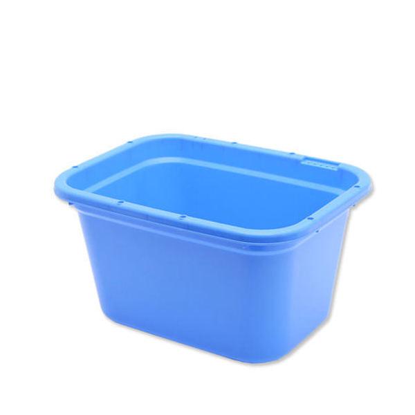 簡易梱包 E-CON 角型タライ 60型 青 水抜栓付(幅60.6×奥行き45.6×深さ34cm 約56L) お一人様1点限り 同梱不可