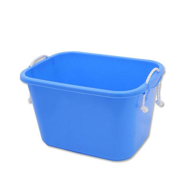 E-CON 角型タライ 40型 青 ロープ付き(幅50×奥行き37.6×深さ29cm 約35.3L) お一人様2点限り