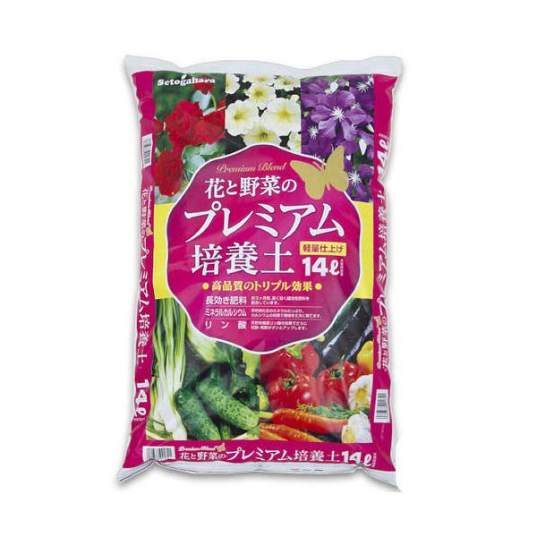 花と野菜のプレミアム培養土 14L 約3.5kg ガーデニング 土 お一人様6点限り