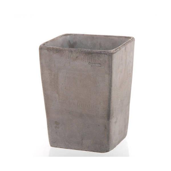 デローマ クアドロコペンハーゲンGY グレー 23×30cm バラ テラコッタ 鉢