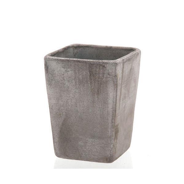 デローマ クアドロコペンハーゲンGY グレー 18×24cm バラ テラコッタ 鉢