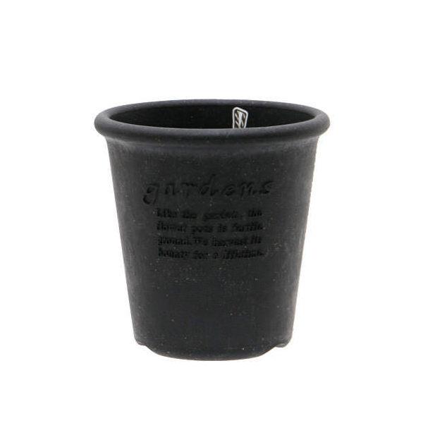 ガーデンズエコポット 丸型 4号 ブラック ベランダガーデニング 室内園芸
