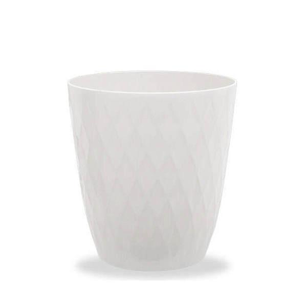 リッチェル キンバリー 鉢カバー ホワイト 6号 ガーデニング 鉢カバー 観葉植物 インテリア ダイヤモンドカット
