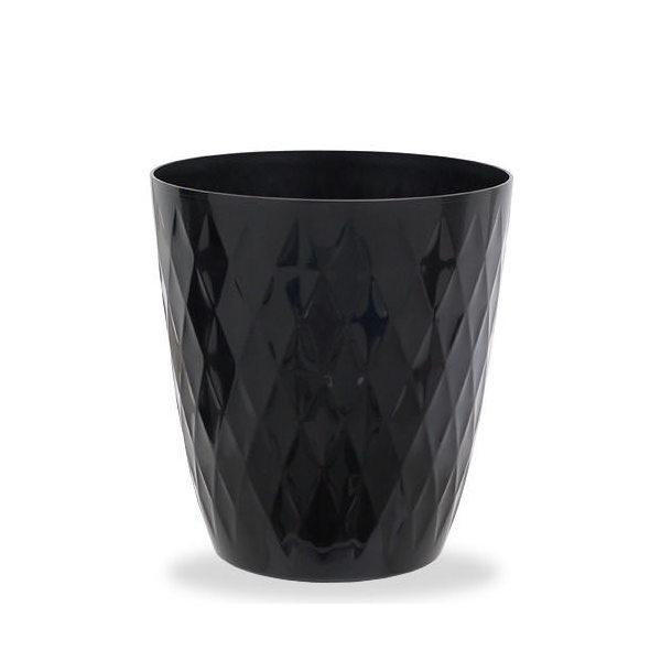リッチェル キンバリー 鉢カバー ブラック 6号 ガーデニング 鉢カバー 観葉植物 インテリア ダイヤモンドカット