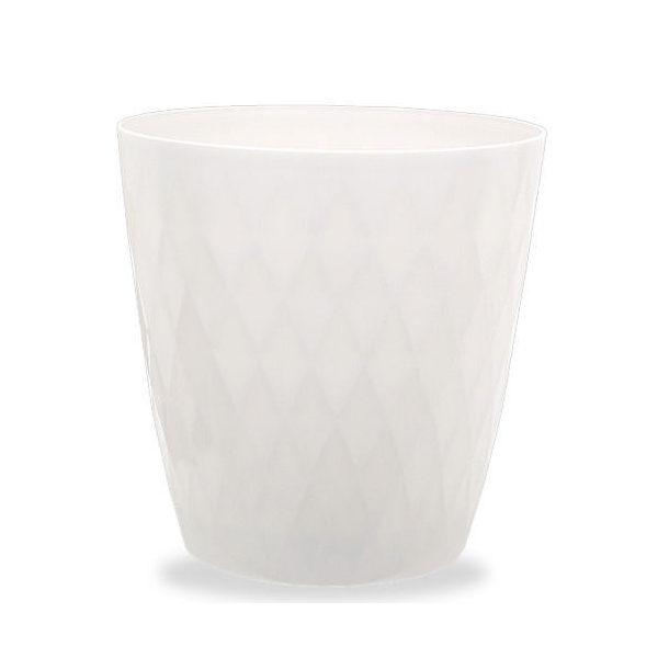 リッチェル キンバリー 鉢カバー ホワイト 10号  ガーデニング 鉢カバー 観葉植物 インテリア ダイヤモンドカット