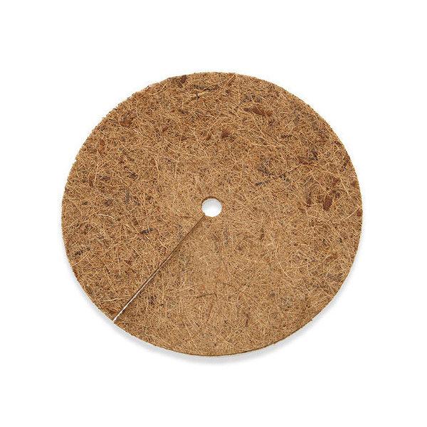 ヤシの繊維円盤マット 直径28cm マルチング バラ 10号 乾燥防止 雑草防止