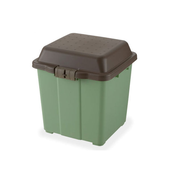 リッチェル ガーデニングカーゴ 65 グリーン コロ付き 収納庫  ガーデニング 小物収納トレー お一人様1点限り