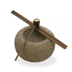和風石材 蹲(つくばい) 小 水槽用オブジェ アクアリウム用品