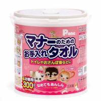 国産 マナーのためのお手入れタオル 本体 300枚 犬 猫用 ノンアルコール 無香料 なめても安心