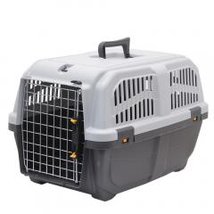 ドギーマン イタリア製ハードキャリー DOGGY EXPRESS L グレー 犬 猫用キャリーバッグ 航空機対応(10kgまで)