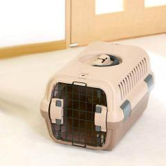 リッチェル キャンピングキャリー S ブラウン 犬 猫用 キャリーバッグ(5kgまで)