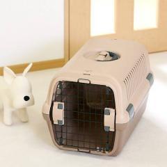 リッチェル キャンピングキャリー M ブラウン 犬 猫 キャリーバッグ(8kgまで) お一人様2点限り