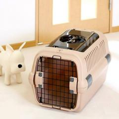 リッチェル キャンピングキャリー M ダブルドア ブラウン 犬 猫 キャリーバッグ(8kgまで)