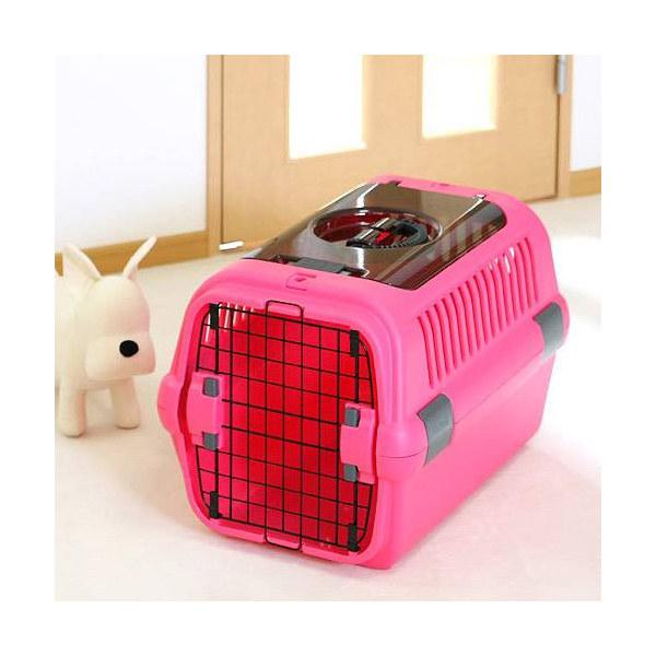 bdc0542aeac8 LOHACO - リッチェル キャンピングキャリー M ダブルドア ピンク 犬 猫 ...