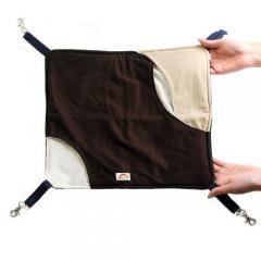 レインボー やわらかクロスハンモック ブラウン(40×35cm)