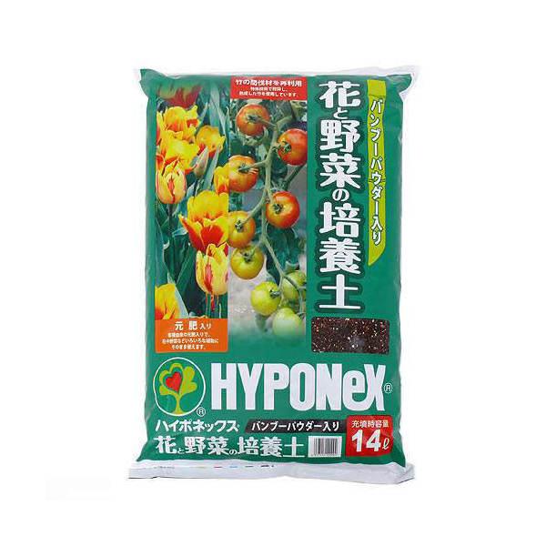 お一人様2点限り ハイポネックス バンブーパウダー入り 花と野菜の培養土 14L