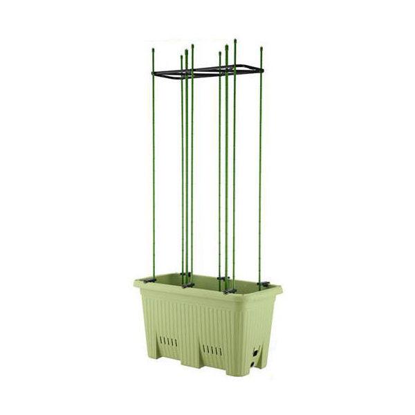 楽々菜園 深型 600 支柱用フレーム付き(W60.0×D32.4×H32.4cm・22L) お一人様1点限り