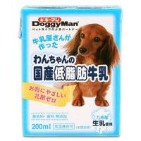 ドギーマン わんちゃんの国産低脂肪牛乳 200ml 離乳後~成犬・高齢犬用 犬 ミルク 2個入り