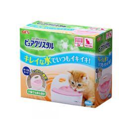 GEX 猫用 ピュアクリスタル サークル・ケージ 子猫用 猫 水飲み 循環式自動給水器