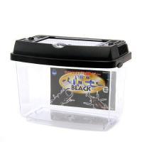 マルカン ワイドビューBLACK(ミニ)(185×117×137mm) プラケース 虫かご 飼育容器 昆虫 カブトムシ クワガタ