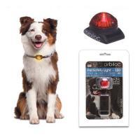 ペット・セーフティーライト-LED レッド 犬 夜間 散歩用 LED点滅ライト