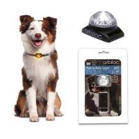 ペット・セーフティーライト-LED ホワイト 犬 夜間 散歩用 LED点滅ライト