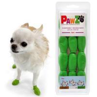 Pawz ラバードッグブーツ Tiny ライトグリーン 犬用 ゴム製使い捨てブーツ 靴 くつ 肉球保護
