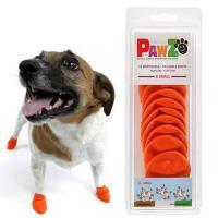 Pawz ラバードッグブーツ XS オレンジ 犬用 ゴム製使い捨てブーツ 靴 くつ 肉球保護