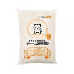 国産猫砂 おからで瞬間吸収 チャーム消臭猫砂 6L 8袋 お一人様1点限り