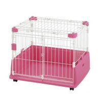 リッチェル ペット用ラクリーンケージ 700 ピンク 犬 ケージ 沖縄県を除き基本送料無料