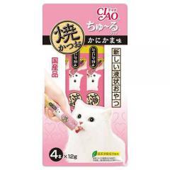 いなば 焼かつお ちゅ~るタイプ かにかま味 12g×4本 キャットフード CIAO(チャオ) 猫 おやつ ちゅーる