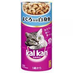 カルカンハンディ缶 1歳から まぐろ入り白身魚 160g×3P 猫フード 成猫用