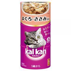カルカンハンディ缶 1歳から まぐろ・ささみ入り 160g×3P 猫フード 成猫用