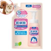 ライオン ペットキレイ 顔まわりも洗える泡リンスインシャンプー 低刺激 子犬・子猫用 つめかえ用 200ml