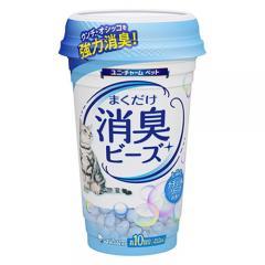 猫トイレまくだけ 香り広がる消臭ビーズ ふんわりナチュラルソープの香り 450ml 猫 消臭