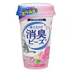 猫トイレまくだけ 香り広がる消臭ビーズ やさしいピュアフローラルの香り 450ml 猫 消臭