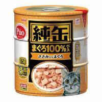 アイシア 純缶 ささみ入りまぐろ 125g×3P 猫 フード 1箱18個入