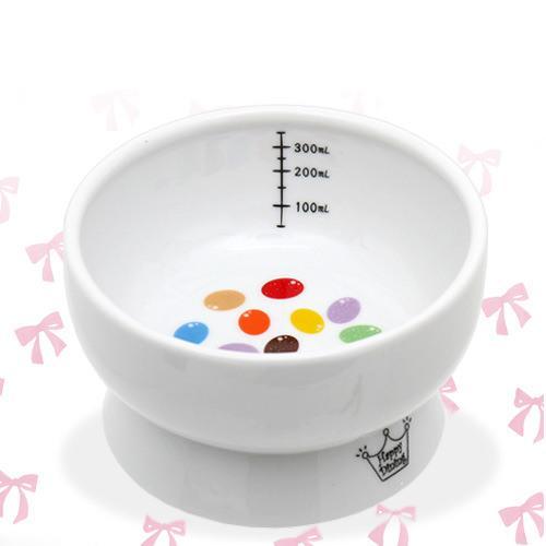 猫壱 脚付ウォーターボウル キャンディ 陶器水入れ ハッピーダイニング 犬 猫 食器