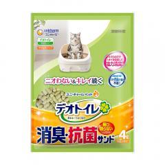デオトイレ 飛び散らない消臭・抗菌サンド お徳用4L 4袋入り 猫砂 ゼオライト シリカゲル お一人様1点限り