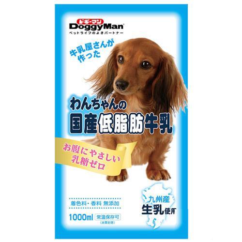 ドギーマン わんちゃんの国産低脂肪牛乳 1000ml ドッグフード ミルク 国産